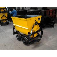 Cheap KFU Series 600mm gauge bucket tipping mine car with MA certification wholesale