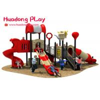 Cheap Custom Design School Outdoor Playground Slides , Large Outdoor Playground Equipment wholesale