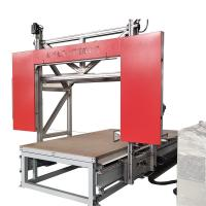 China Easy Control CNC Rock Wool / PU Foam Cutting Machine For 2D Complex Shape on sale