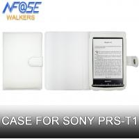 Cheap Flip Folio PU Sony Ereader Cover , Leather Wallet Case For Prs-t1 / t2 White wholesale