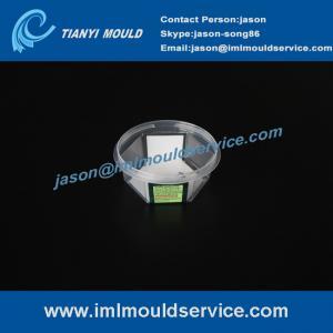 Cheap Plastic china IML thin wall injection mold system, 4 cavities IML thin wall mold, IML mold wholesale