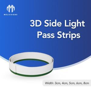 Cheap 1mm Bending 3D Side Pass Light Strips Letters Flexible for decoration wholesale