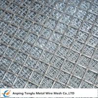 Cheap Flat Top Crimped Wire Mesh |50X50mm Mesh Aperture Smooth Top Crim Wire Screen by Stainless Steel wholesale