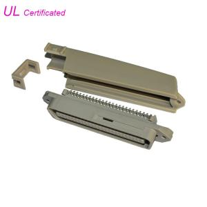 Cheap Tyco 90 Degree 50 Pin Solder Centronic Plug Connector With Plastic Cover Certificated UL wholesale