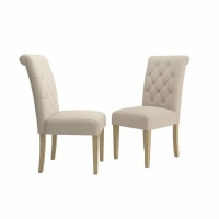 Cheap Simple And Elegant Solid Wood Tufted Parsons Dining Chair wholesale