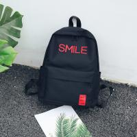 Cheap Large capacity men and women street shot stitching color backpacks fashion casual joker high school students bag tide wholesale