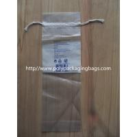 Cheap LDPE Clear Drawstring Plastic Bags With Perforation For Cotton Wool Pads wholesale