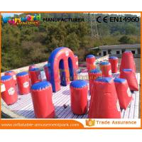 Cheap Air Sealed Inflatable Paintball Bunkers Paintball Equipment 0.6mm PVC Tarpaulin wholesale