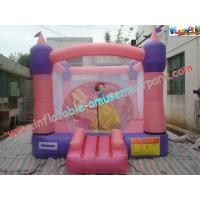 Cheap Pink Inflatable Bounce Houses , CE / EN14960 Jumping Castle Rentals wholesale