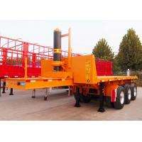 Cheap CIMC 20 double frame semi tipping skel container trailer steel dump skeletal trailer for sale wholesale