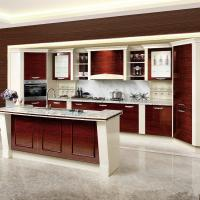 Cheap Custom Wooden Veneer Kitchen Cupboards High Pressure Built In Traditional Style wholesale