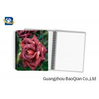 Cheap 0.6mm PET Material Personalized Spiral Notebooks  3D Lenticular Stationery wholesale
