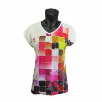 Cheap Short Sleeve Colorful Casual Sportswear Slin Fit Ladies Running T Shirts wholesale