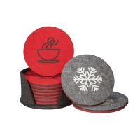 Cheap Home Decor Double Sided Absorbent Felt Drink Coasters wholesale