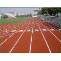 Middle Schools Running Track Flooring Wear Resistant Shock Proof Red Color