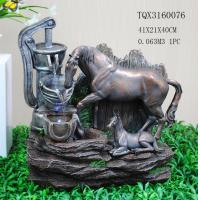 Cheap Horse Animal Large Resin Water Fountain With Flashing Light 40 X 30 X 41 Cm for sale