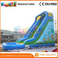 Cheap Durable Minion Outdoor Inflatable Water Slides Inflatable Bouncer Slide With Pool wholesale
