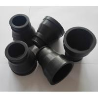 Quality Black Custom Molded Rubber Parts , FKM Rubber Molded coveres with 65 Shore A for sale