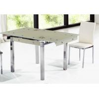 China cheap glass extending dining table on sale