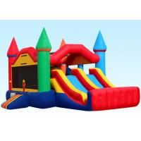 Cheap Party City Inflatable Bouncer Combo , Inflatable Bounce House Dual Castle wholesale