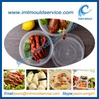 Cheap clear 1750ml thin wall plastic rice and food bowls moulding with lids disposable wholesale