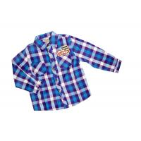 Cheap Cool Two Pocket Blue Check Flannel plaid shirt style kids 100% Cotton wholesale