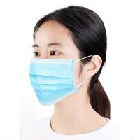 Cheap Full Protection 3 Ply Face Mask , Disposable Mouth Mask Anti Viral Function wholesale