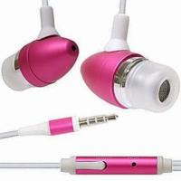 Cheap Stereo Earphones for iPhone/iPad/iPod, with 100mW Maximum Power wholesale