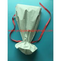 Cheap White CPE Drawstring Plastic Bags For New Year Gift / Women 'S Personal Items wholesale