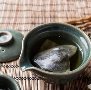 Cheap 100pcs 7*8cm corn fiber fold tea bags wholesale