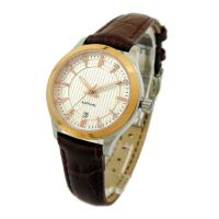China Stainless Steel Lady Watch With Genuine Leather on sale