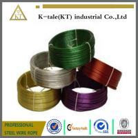 Cheap Black Pvc Coated Stainless Steel Wire Rope , Loop Tie Wire wholesale