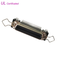 Cheap 14 24 36 50 Pin Centronic PCB Right Angle Female Receptacle Connector with Bail Clip and Board Lock wholesale