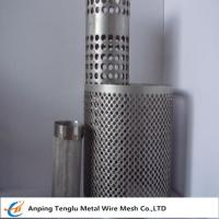 Cheap Wire Mesh Filter Tube|Flat Kintting Weave with Round Hole Shape wholesale