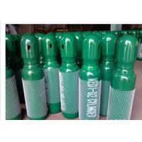 Cheap Green / Blue 34CrMo4 High Purity Compressed Gas Cylinder 200BAR 5.2mm Thickness wholesale