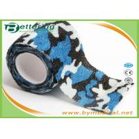 Cheap Blue Colour Camouflage Printing Non Woven Cohesive bandage Pre Wrap for Army Camping Hunting wholesale