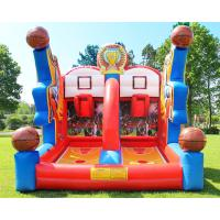 Cheap Shooting Stars Basketball Inflatable Target Bounce House Interactive Sports Structure wholesale