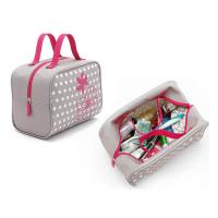 Cheap Custom Makeup Storage Bags With Handles / Women Printed Travel Hand Bags wholesale