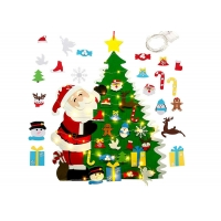 Cheap Diy Hanging 3mm Felt Christmas Tree Decorations With Led String Lights wholesale