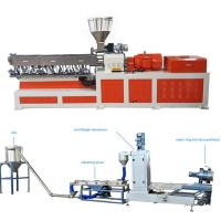 Cheap High Capacity Plastic Dual Screw Extruder With Water Ring Pelletizing System wholesale