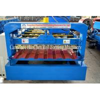 Cheap Galvanized Standing Seam Roofing Sheet Roll Forming Machine Blue Color Coated wholesale