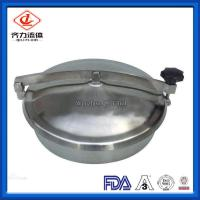 Cheap Stainless Steel Sanitary Tank Fittings  Non Pressure  Circular Manway Cover wholesale