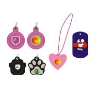 Cheap Black / Blue / Orange / Pink Shaped Silicone Dog Tags Ion Balance For Pet wholesale