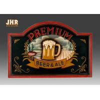 Cheap Custom Wooden Wall Signs Antique Wood Pub Sign Resin Beer Wall Decor Green Color wholesale
