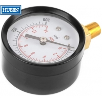 "Buy cheap Manometer Pressure Gauge Side/Bottom Entry M20x1,5 + 1/2"" BSP Reduction 100mm from wholesalers"