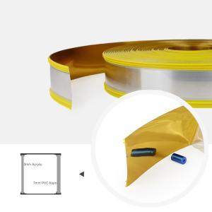 Cheap 65mm Waterproof Mirror Gold Aluminum Core Channel Letter Trim Cap Profiles wholesale