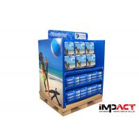 Two Face Corrugated Cardboard Pallet Display Promotional For Beach Ball