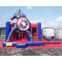 Cheap Water - Proof Inflatable Bouncer Slide , Air Sewing Captain Moon Bounce Combo Slide Structure wholesale