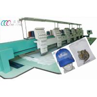 Cheap 6 Heads 9 Needles Tubular Embroidery Machine , Automatic Color Changing And Trimming wholesale