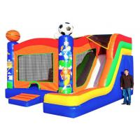 Cheap Sport Themed Inflatable Bouncer Combo Jumper With Slide Double Stitching Fireproof wholesale